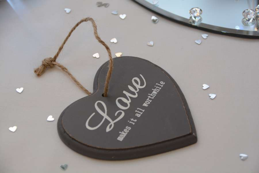 Wedding Photography London - Heart shaped wedding favour